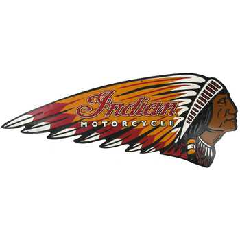 Indian Motorcycle Metal Sign